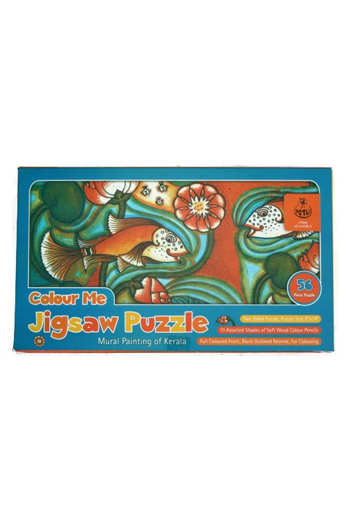 Colour me Jigsaw Puzzle - Kerala Mural Painting