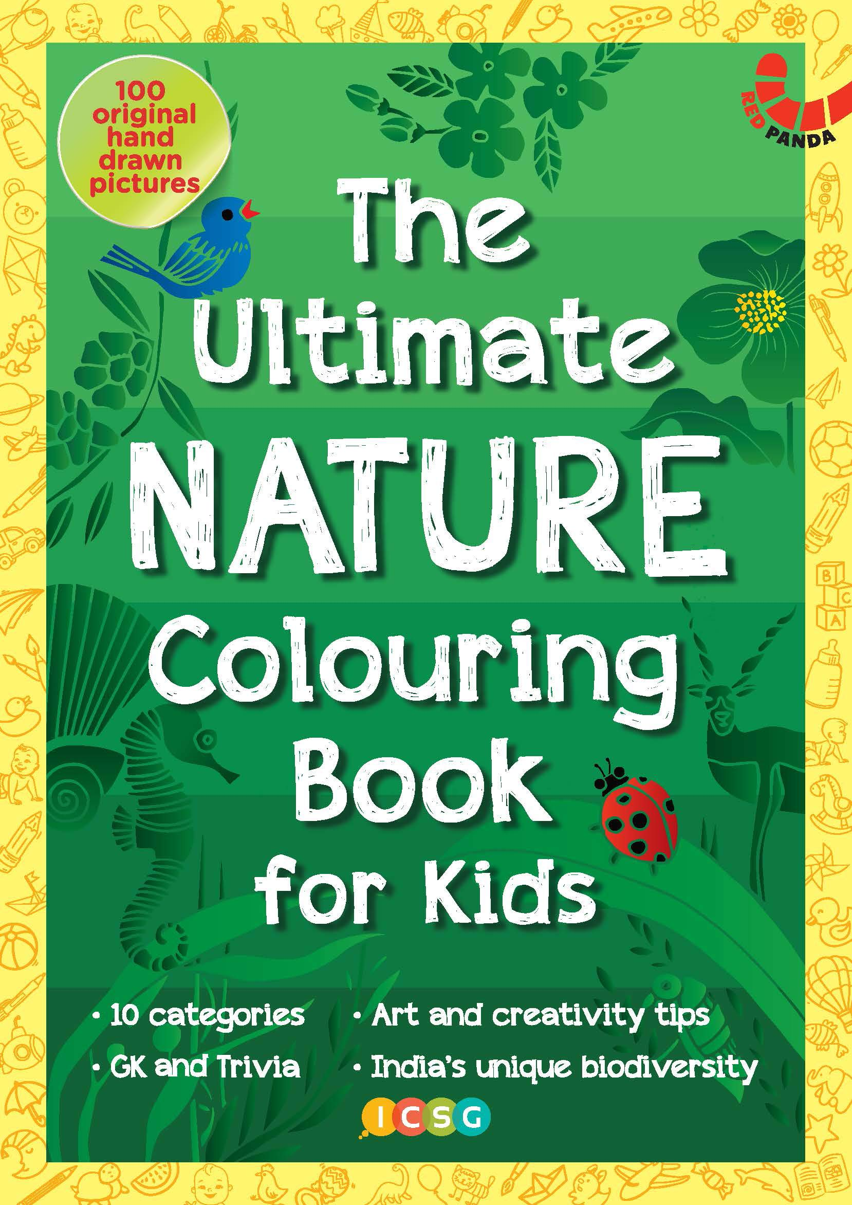 THE ULTIMATE NATURE COLOURING BOOK